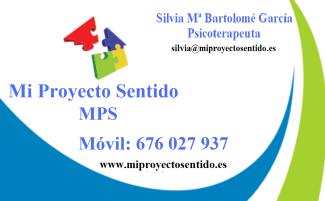 Tarjeta Silvia Mª